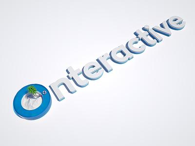 Onteractive I Summer logo symbol branding summer cinema4d 3d yaligya onteractive digital logo 3dlogo logo