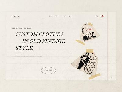 Clothcraft - Shop with custom clothes photoshop website header design custom clothes clothes header web figma landing page ux ui