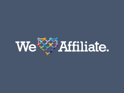 We Love Affiliate. heart network love affiliate color