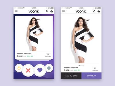 Voonik Concept Design application shop shopping online fashion ecommerce ios product design ui  ux voonik