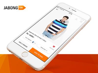 Product Detail Page - Concept Design - Jabong jabong ux ui shopping shop design product online ios fashion ecommerce application