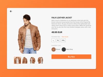 Product Detail Web view - Concept Design  ecommerce fashion web website online product shop shopping ui ux
