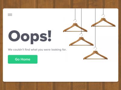 404 Got Lost For Fashion Website - Concept Design website ux ui shopping shop product online fashion commerce e error 404