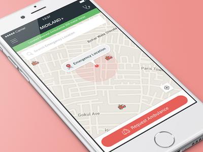 Mediland+ - SOS App - Concept Design ambulance ux ui sos help product online ios design application