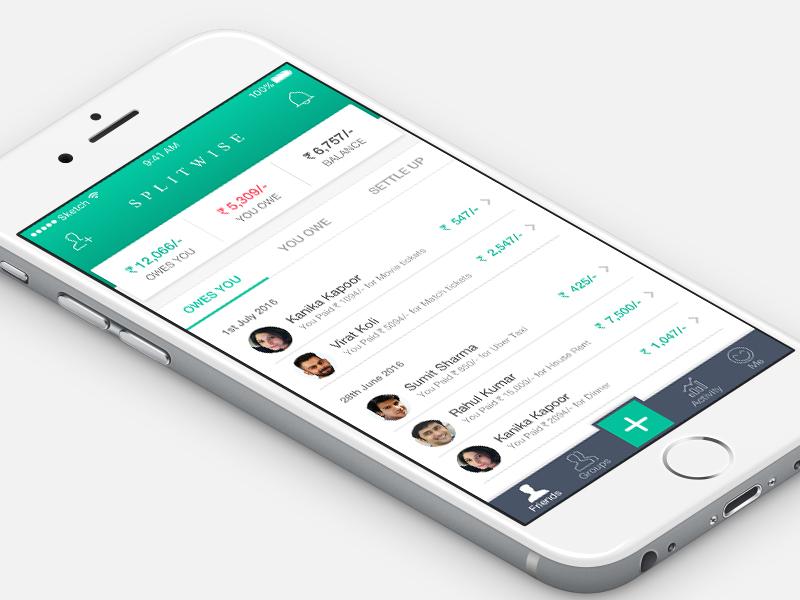 SPLITWISE APP splitwise redesign profile money mobile ios friends cash bills app