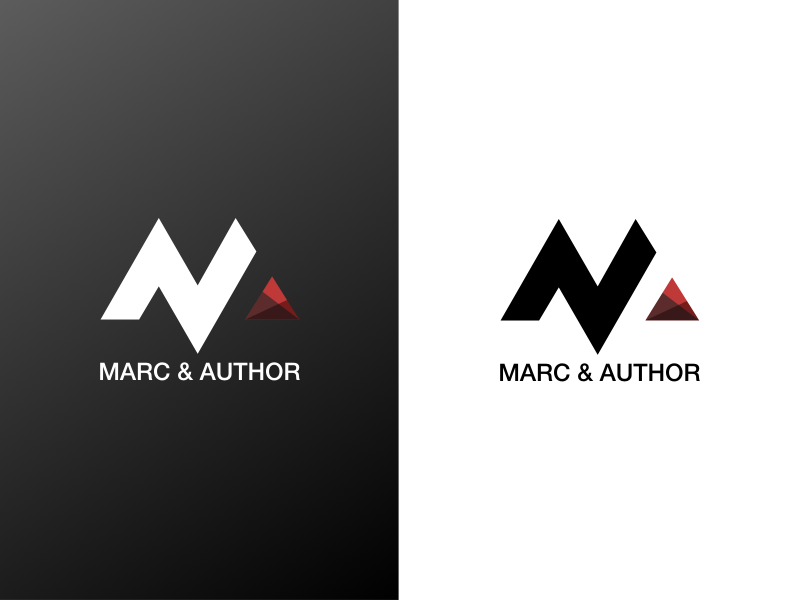 Logo Branding for Marc & Author type simple paper logotype logo letters identity font flat branding