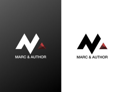 Logo Branding for Marc & Author type simple paper logotype logo letters identity font flat branding