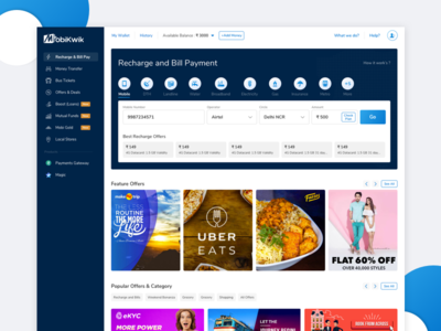 Mobikwik New Web Experience experience design experience ux sketch redesign design ui  ux design rewamp recharge online product ui  ux ui