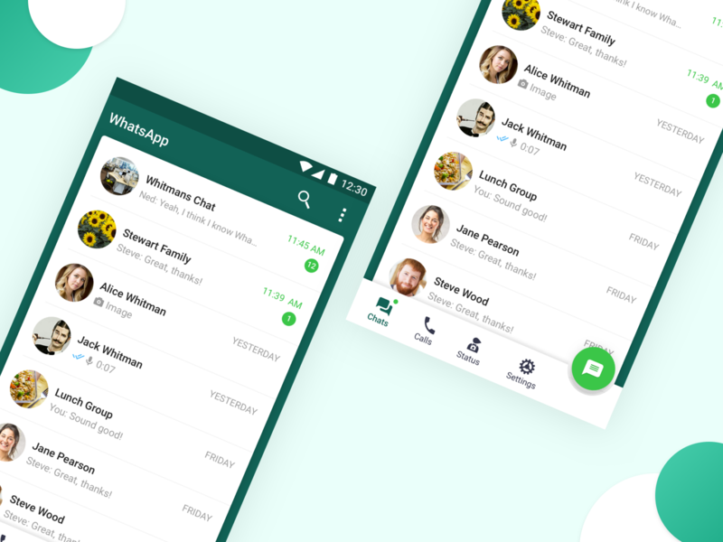 Whatsapp Concept online sketch app icon material ui ux app android chat app chat graphic messenger messenger app design product application