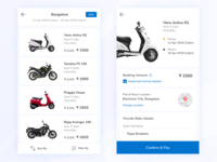 Rent a Bike user experience user center design rental rent a bike mobile app design mobile app bike ride detail screen listing page ux design application product uidesign online booking app bike ux ui