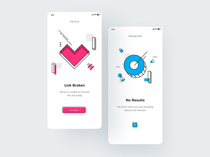 Notification Screens | UI Design ui  ux app ui app design illustration design shapes notification scren ui uxdesign ui design ux ui