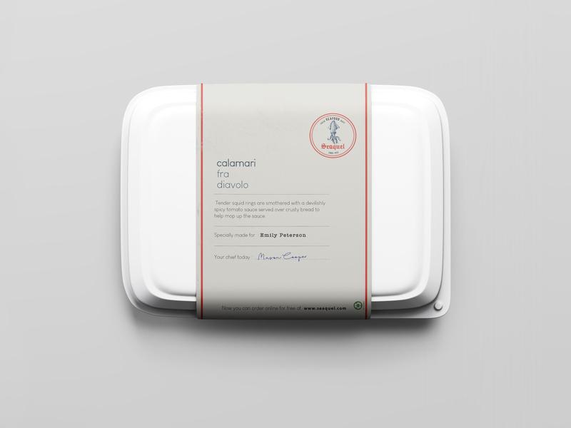 Seaquel branding projectArtboard 8 takeaway packaging design design logo icon branding