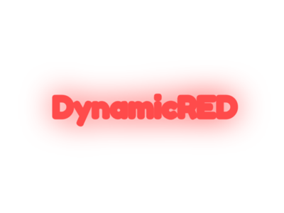 DynamicRED Logo with Glow logo flat branding vector