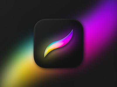 Procreate app Icon figma minimal branding design black icon procreate