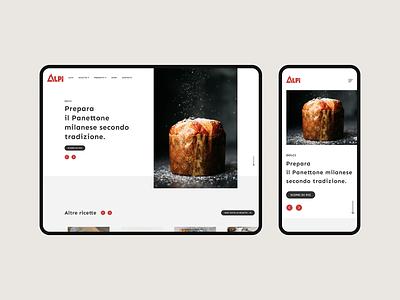 Alpi Website bakery bread flour red website white minimal flat