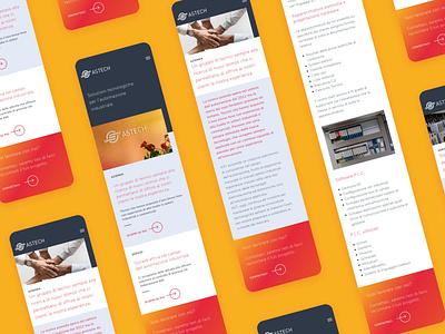 AST - Website website red design minimal flat