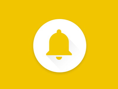 Bell yellow bell flat icon material design