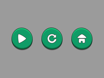 Game Buttons game flat button green