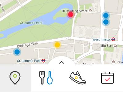 TabBar Filter color clean minimal map tabbar filter white icon mobile interface user interface ui