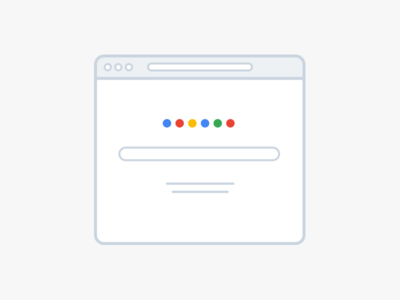 Google google illustration icon flat minimal