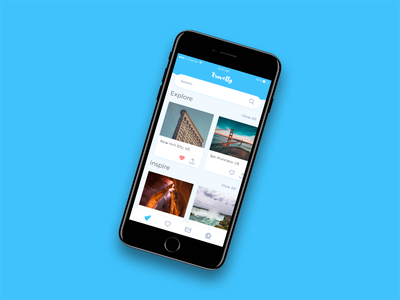 Travelly - Concept iphone travel