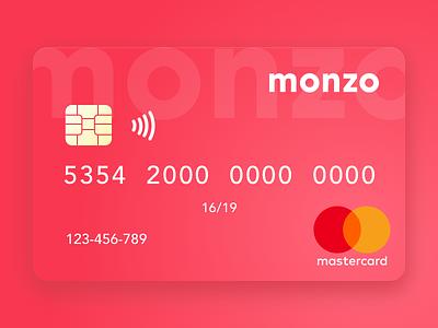 Monzo - Card Concept mastercard contactless money sketch nicolasciotti redesign card bank concept mono