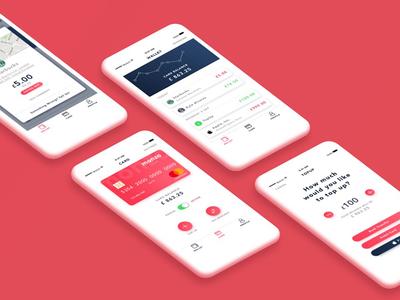Monzo App - Redesign Concept mastercard contactless money sketch nicolasciotti redesign card bank concept monzo