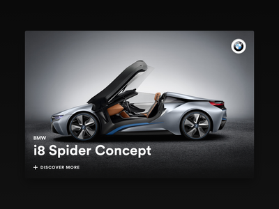 Minimal Card - BMW i8 Spider Concept bmw car card design black minimal