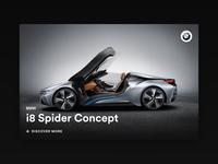 Minimal Card - BMW i8 Spider Concept