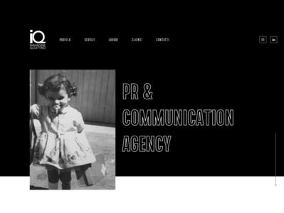 Immagine Quattro - New Website white design black minimal flat