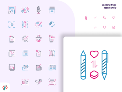 Icon family visual design iconography icon set icon design ui