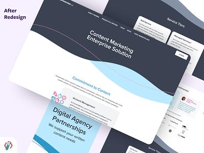 Landing page redsesign visual design branding design ui redesign
