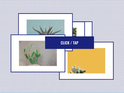 Click/Tap Image Gallery photos responsive design ui ux dots blue gallery image tap click