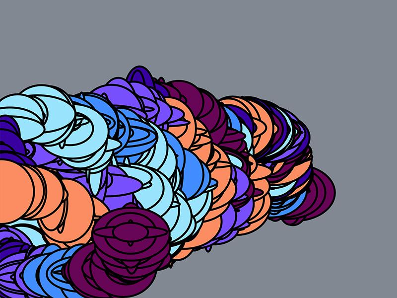 Generative Mouse Art mouse gray shapes ellipse colors colorful generative art