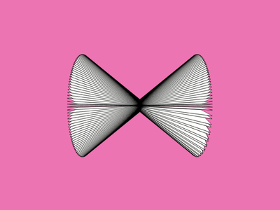 PINK Abstract Butterfly visual art generative art illustration pink abstract butterfly