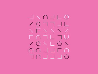PINK Silver-Gold Patterns shapes glyphs pink generativeart visual art pattern art