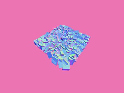 PINK 3D Crystals pink 3d art visual art generative art crystals