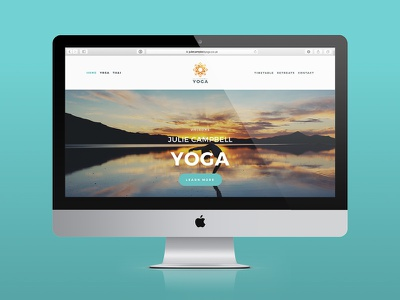 Julie Campbell Yoga mandala gold gold foil web design website yoga yoga logo logo