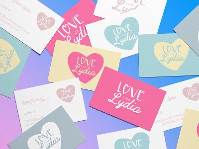 Love from Lydia typography heart love branding identity logo