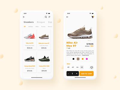 Shoe App Concept figma mobile app ui design shoe app ecommerce design concept design app design
