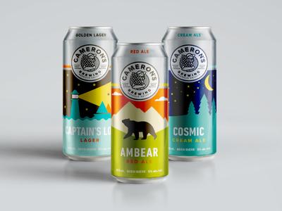 Cameron's Brewing Company design package logo branding ontario beer craft