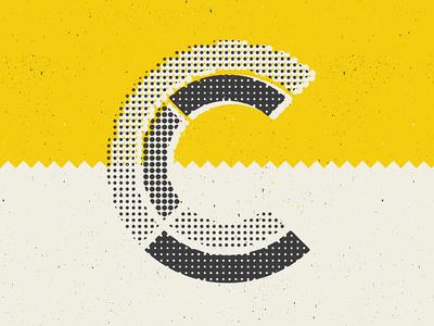 Custom C texture logo branding beer craft typography type