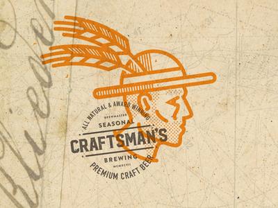 Craftsman's Brewery drawing logo beer brewery craftsman