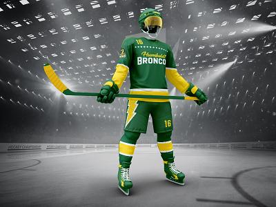 Humboldt Broncos Home Jersey stars logo hockey broncos humboldt