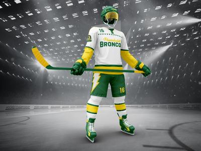 Humboldt Broncos Away Jersey stars logo hockey broncos humboldt