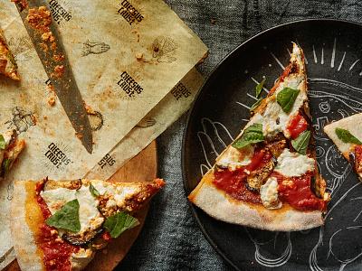 Cheesus Crust Pizzeria typography textures food cross cheese restaurant pizza wordmark logo