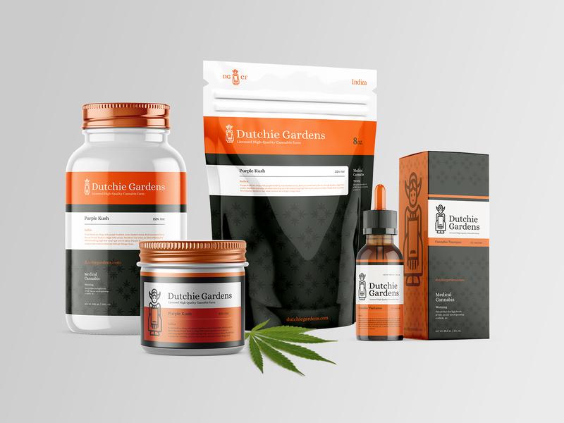 Dutchie Gardens icon branding netherlands drugs logo packaging dutch dispensary weed marijuana cannabis