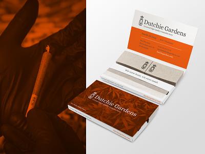 Dutchie Gardens busines card papers netherlands drugs logo packaging dutch dispensary weed marijuana cannabis