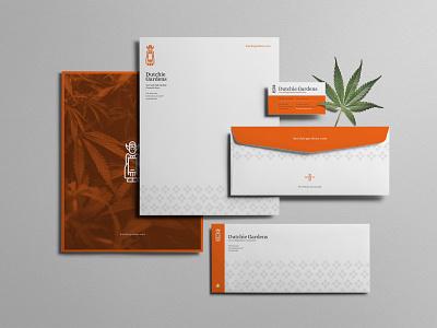 Dutchie Gardens stationary netherlands drugs logo packaging dutch dispensary weed marijuana cannabis