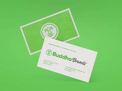 Buddha Brands palm tree face coconut business card icon buddha rebrand logo
